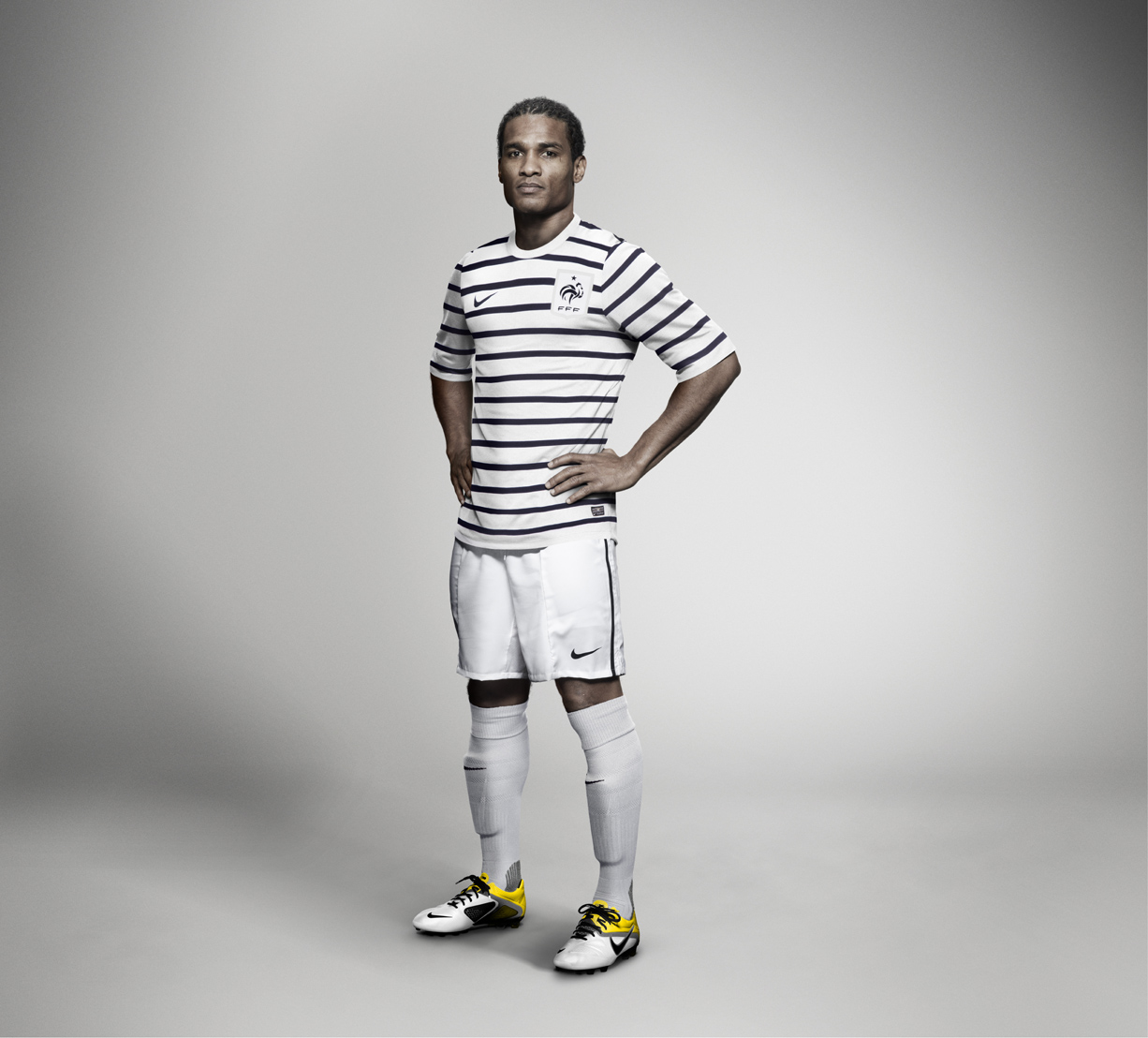 9bb231aee716 Karl Lagerfeld did not had another step in the world of football - the  France 2011 away jersey is the only soccer piece the designer helped to  create.