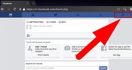facebook logout mobile devices
