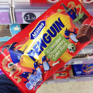 mcvities penguin petrified chocolatey cake bars
