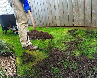 how to level a lawn with topsoil