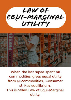 Consumer strikes equilibrium in two commodities case when law of equi marginal utility holds good