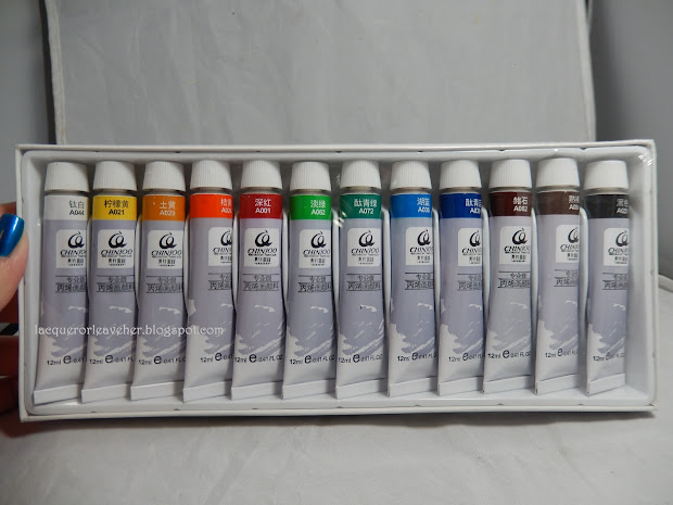 Lacquer Leave & Imperial China With Born Pretty Store Acrylic Paints