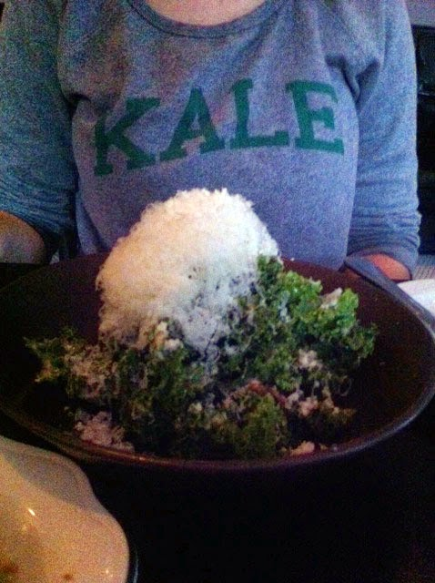 Kale salad at Supply and Demand, Ottawa, Ontario