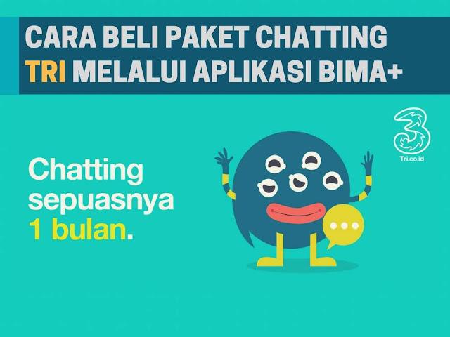 Beberapa provider internet di Indonesia terdapat beragam paket internet yang disesuaikan  Tutorial Beli Paket Chatting 3 Tri Sebulan 5+000 Terbaru 2019