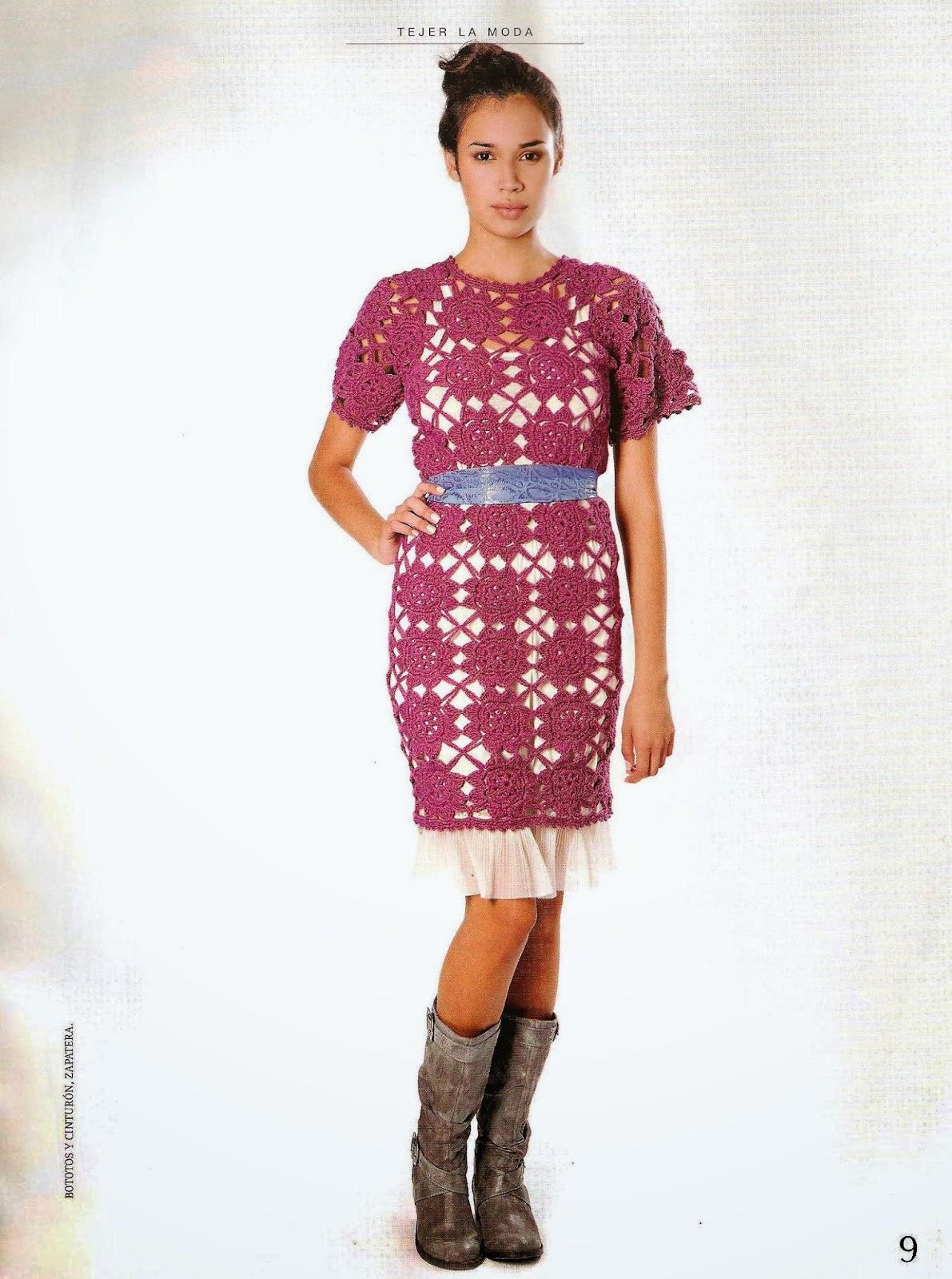Vestido Tunica de Crochet Patron