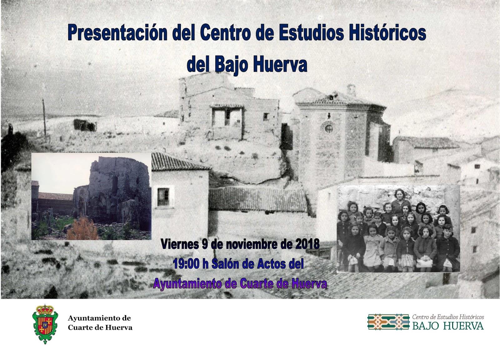 Centro de Estudios Históricos del Bajo Huerva: Presentación del ...
