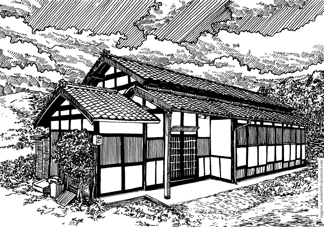 09-Evgenii-Sarychev-Japanese-Urban-Sketch-Drawings-www-designstack-co