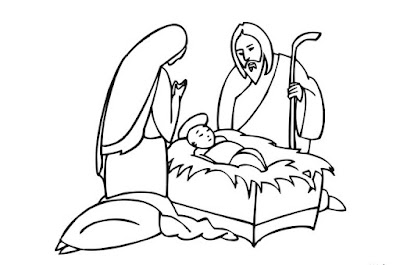 Christmas Coloring Pages for Jesus