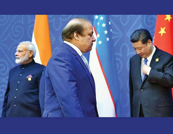 Narendra Modi with Pakistan and Chinese Prime Ministers