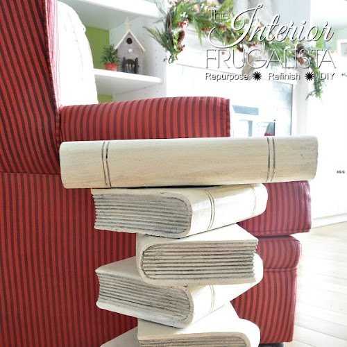 Funky Stacked Book Table Makeover