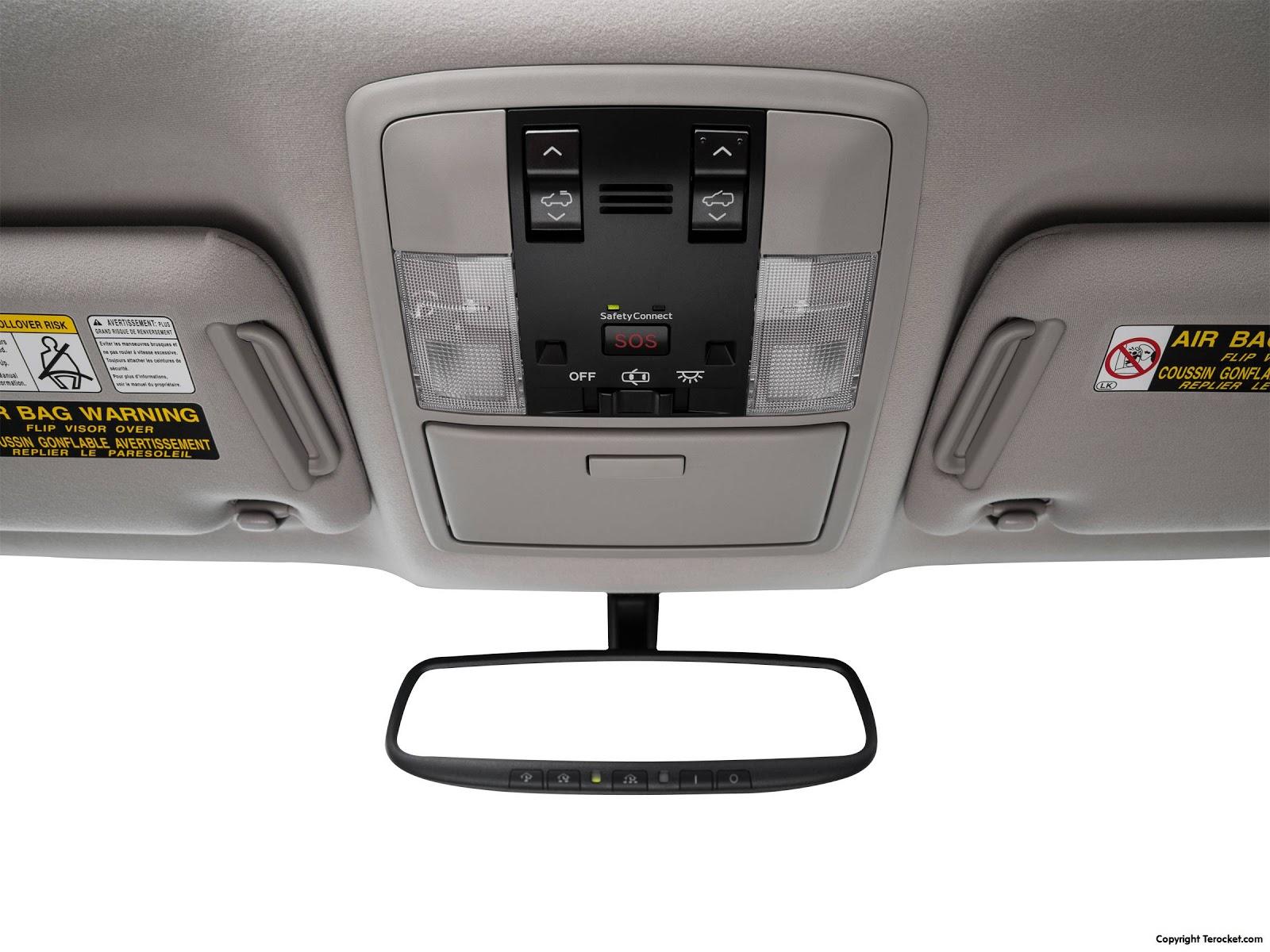 Kính hậu, có thể hiện thông thông tin, điểm mù nhờ camera xung quanh xe truyền lại