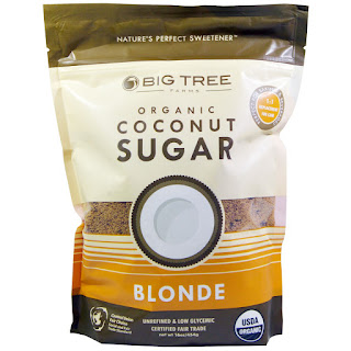 Big Tree Farms, Organic Coconut Sugar, Blonde, 16 oz (454 g)  سكر جوز الهند العضوي من اي هيرب