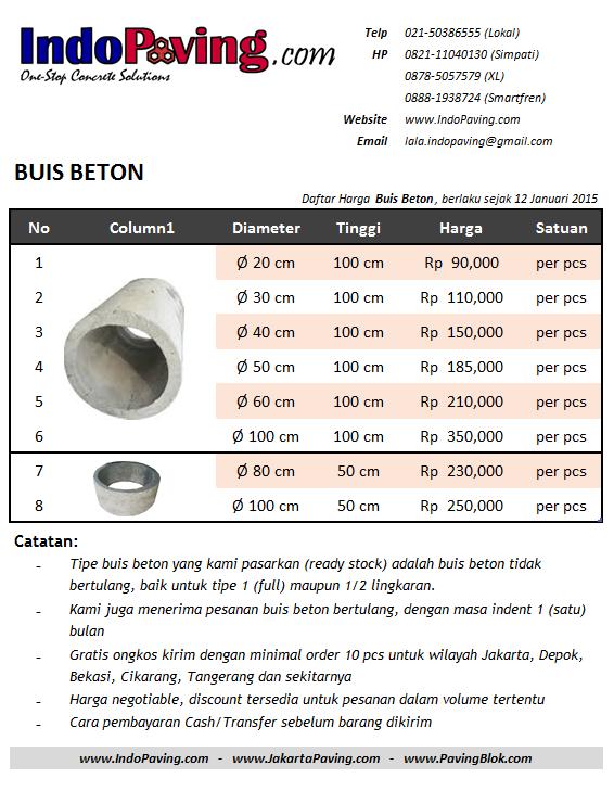 daftar, harga, jual, buis, beton, buis beton, hong, gorong, gorong-gorong