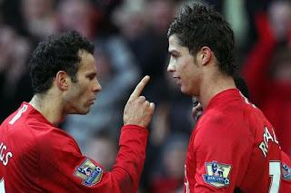 Ryan Giggs and Cristiano Ronaldo