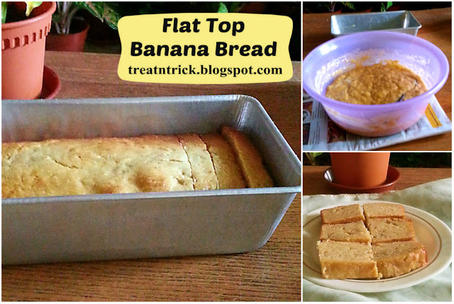 Flat Top Banana Bread Recipe @ treatntrick.blogspot.com