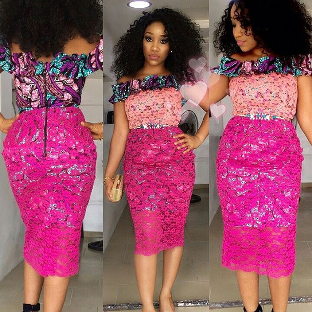 Ankara Aso Ebi Combination Styles : Simple Gown Styles For Beautiful ...