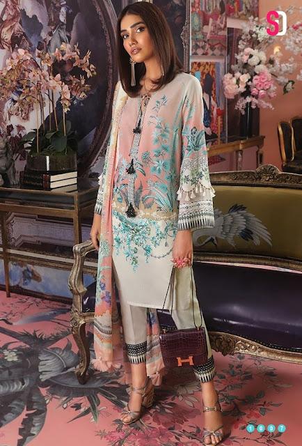 Pakistani Suits: Shraddha Designer Muzlin collection