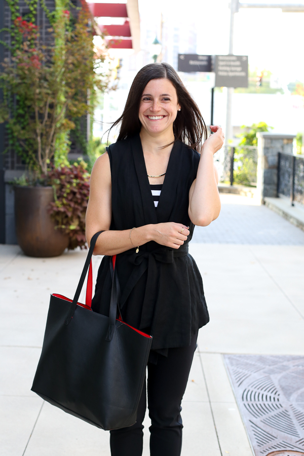 Naturally Me, All Black for Fall, Black Tote, What To Wear For Fall, Fall Outfit Idea