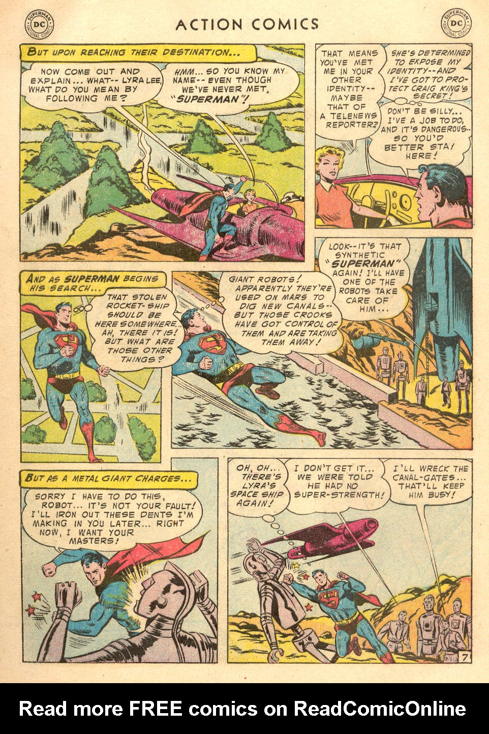Read online Action Comics (1938) comic -  Issue #215 - 9