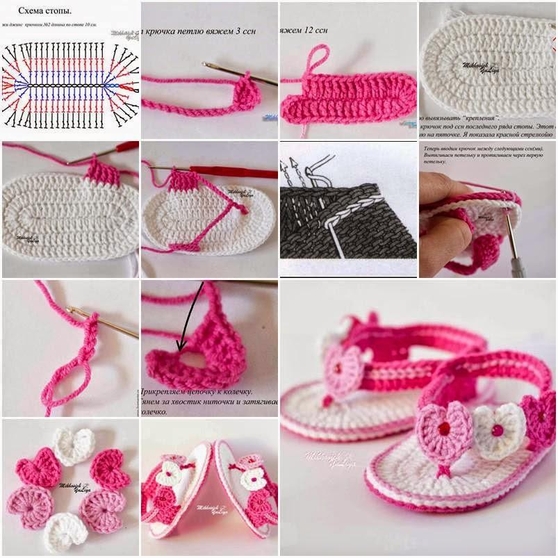 ac82bbce9e1 Πλέξιμο με Βελονάκι: Adorable Crochet Baby Sandals/Υπέροχα Πλεκτά ...