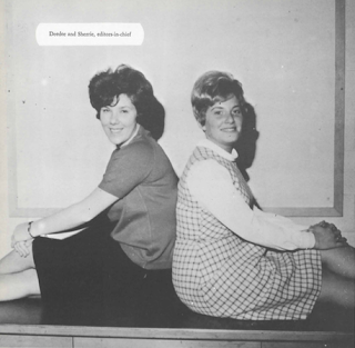 Deedee Goldberg Friedman and Sherrie Pollack in 1966