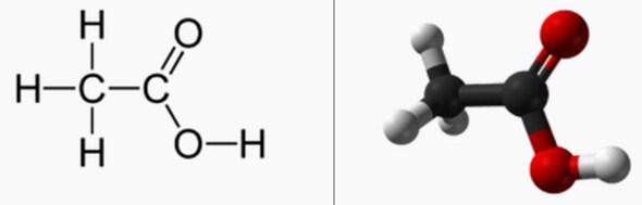 Rumus Kimia Asam Asetat