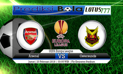 PREDIKSI  SKOR Arsenal vs Ostersunds 23 Februari 2018