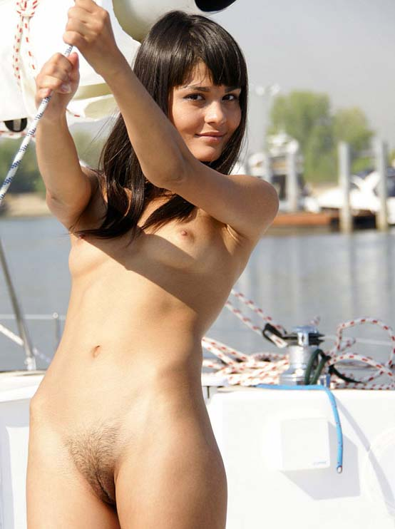 completely naked girl smoking