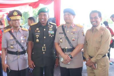 Bupati Boltim, Sehan Salim Landjar SH saat menghadiri peresmian KODAM XIII Merdeka dan pelantikan Panglima Kodam XIII Merdeka, di markas KODAM XIII Merdeka, Kota Manado