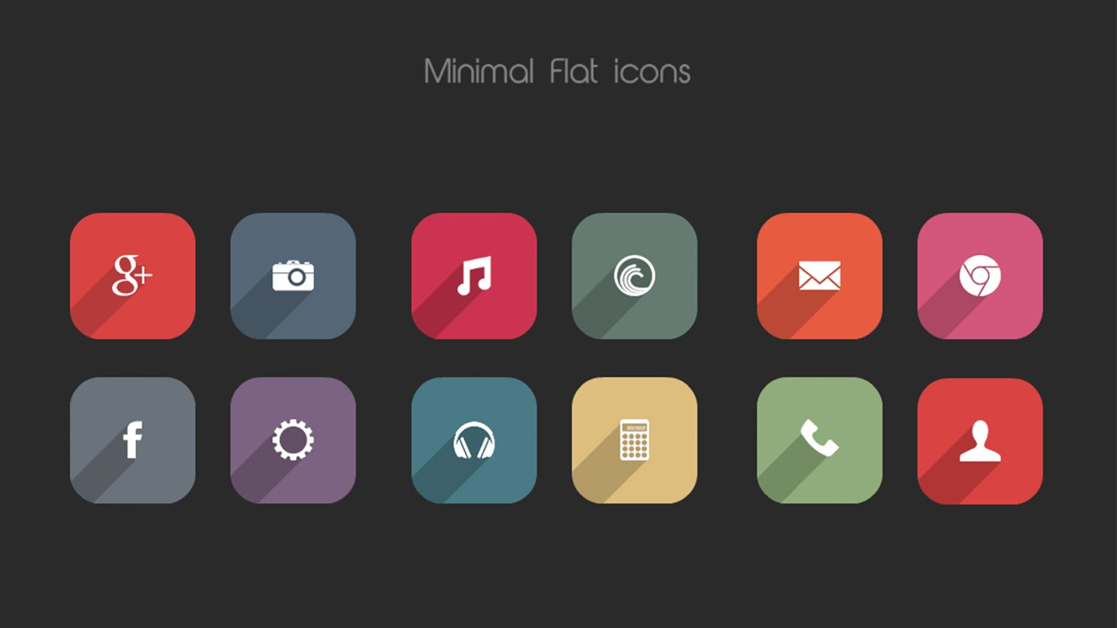 Easy Download Minimal Flat Icon Pack for Android! 550+ HD