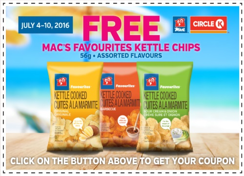 Mac's Free Favourites Kettle Chips Coupon