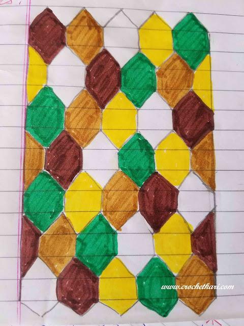 crochet hexagon blanket free pattern crochetkari