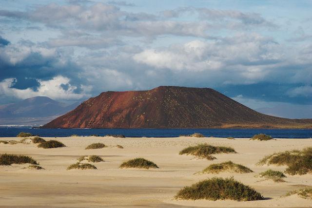 Vulcão La Caldera na Isla de Lobos