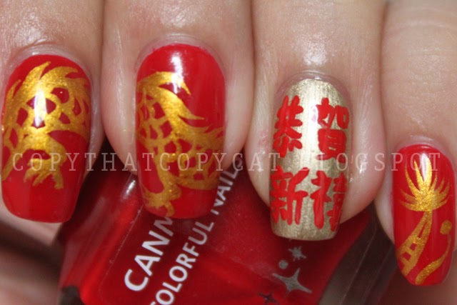 Copy That, Copy Cat: Chinese New Year Nails