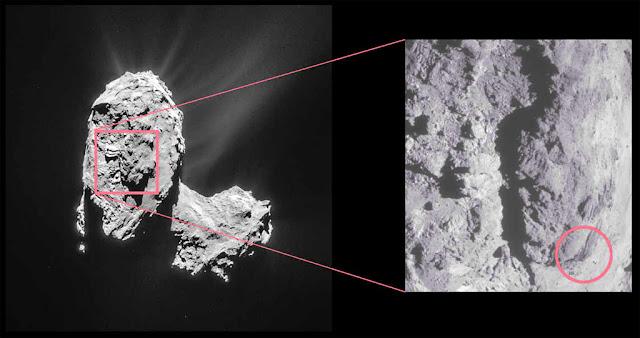 Região Atum do cometa 67P