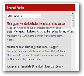 Recent Posts Widget Dengan Label