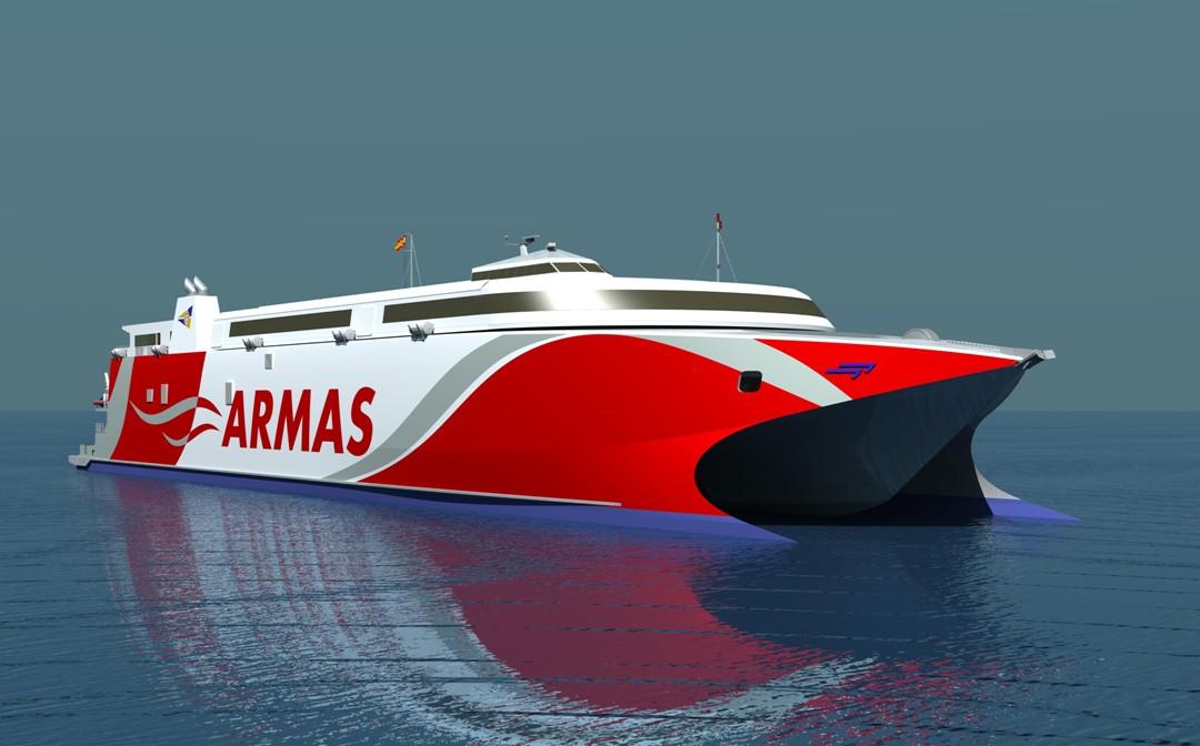 Ferrybalear naviera armas encarga la construcci n de un for Oficinas de naviera armas