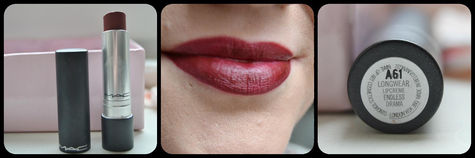Mac Cosmetics Lipstick, Lippenstift, Swatch, Pro Longwear, Lipcreme, Endless Drama, Lipswatch, Swatches