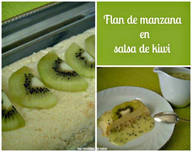 """""""Flan de manzana en salsa de kiwi"""""""