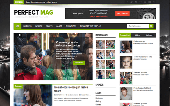 Perfect Mag Blogger Template