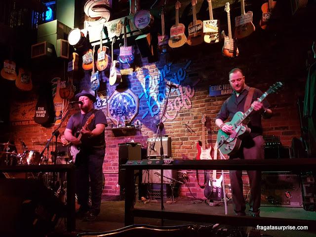 Show de Blues no Rum Boogie Cafe, em Beale Street, Memphis