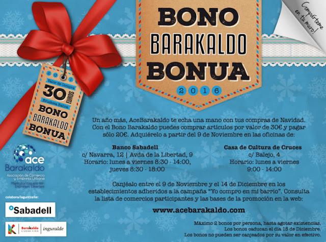 Cartel de la campaña de Bono Barakaldo