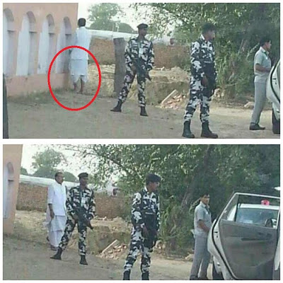 Photo: Indian Agriculture Minister caught urinating in public, says there was no urinal within