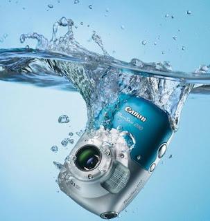 Câmera fotográfica digital à prova d'água