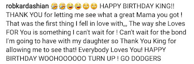 Rob Kardashian's emotional message to his future step son