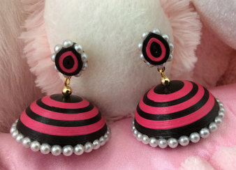 mix and match Trendy Quilling Earring Jhumka Designs 2015 - quillingpaperdesigns
