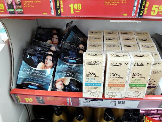 Kosmetyki z Biedronki - olejki do włosów Marion