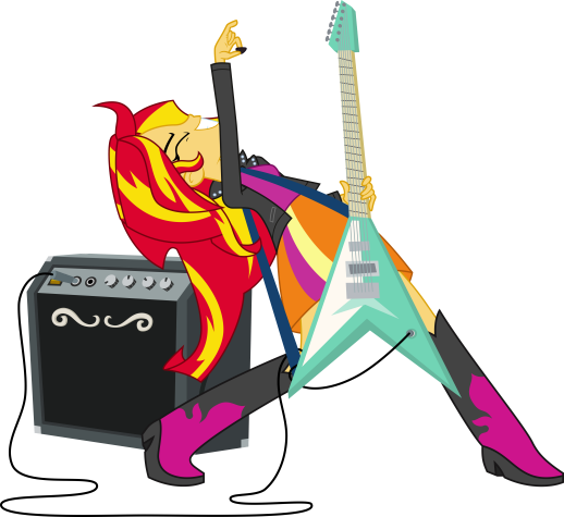 Sunset Shimmer shreds