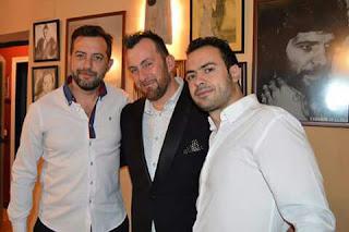 Félix Crujera junto a Pedro Vicario y Antonio de la Alfonsa
