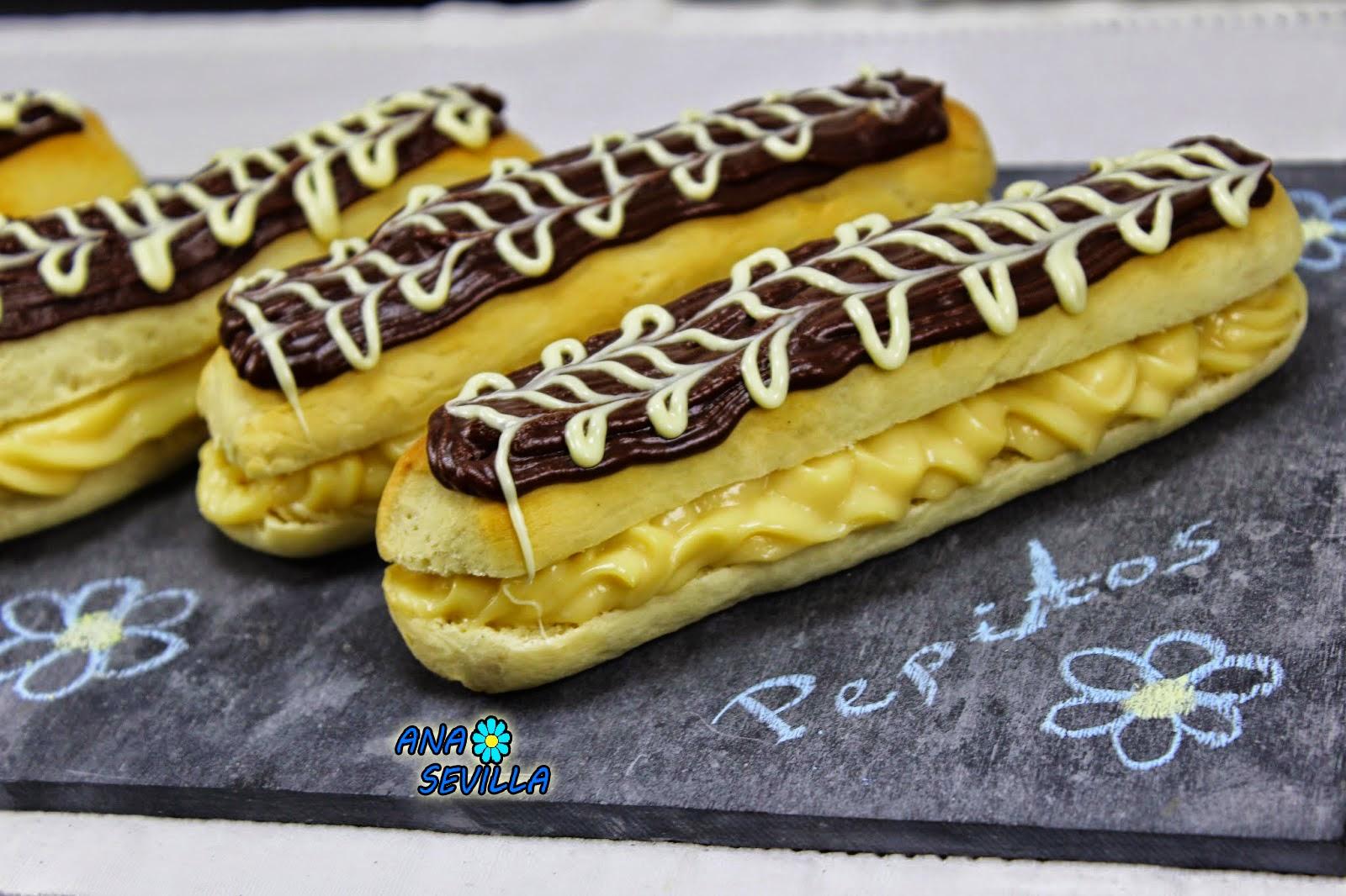 Pepitos de crema y chocolate Ana Sevilla con Thermomix